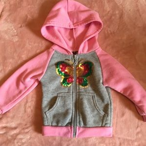 Other - Girls Butterfly Sequin Jacket